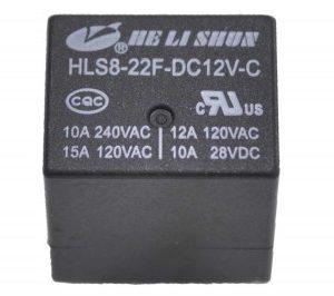 Реле  12V  HLS8- 22F  15A/250VAC