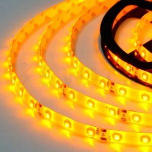 Светодиодная лента (3528) желтая герм.  (3 SMD  5см. )
