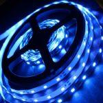 Светодиодная лента (3528) синяя не герм.  (3 SMD  5см.)