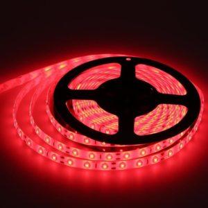 Светодиодная лента (2835) красная герм.  (3 SMD  5см.) 60св/4,8Вт