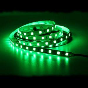 Светодиодная лента (5050) зелёная не герм.  (3 SMD  5см.)