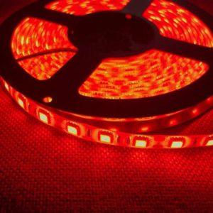 Светодиодная лента (5050) красная герм.  (3 SMD  5см.)
