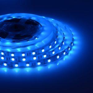 Светодиодная лента (5050) синяя не герм.  (3 SMD  5см.)