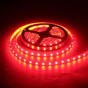Светодиодная лента (5050) красная не герм.  (3 SMD  5см.)