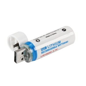Аккумулятор (18650) 3,7В 1400 mАh c USB (2шт)
