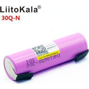 INR18650-30Q с вывод. LiitoKala 3000 mАh