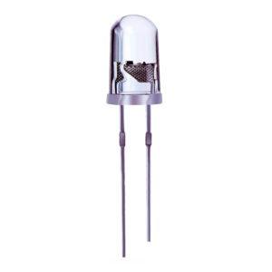 Светодиод белый 5мм 12В