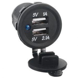 Разъем USB гнездо 2xUSB герм. 12-24V 3,1A (SKU-A)