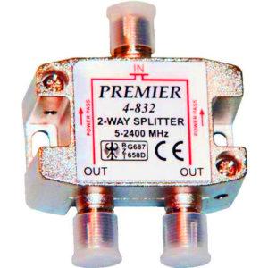 Антенный разветвитель на 2 ТВ с проходн. питан. 5-2400MHz