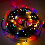 Гирлянда светодиодная уличная 50м 8мм разноцветная