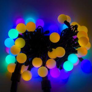 Гирлянда светодиодная 50л (шарик 20мм 10м) уличная