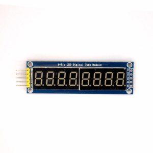 Индикатор семисегментный 8 разрядов, красный, 74HC595