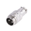 Разъем MIC16 2P штекер металл кабель