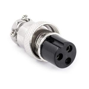 Разъем MIC16  3P гнездо металл кабель