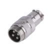 Разъем MIC16 4P штекер металл кабель