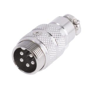 Разъем MIC16  5P штекер металл кабель