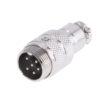 Разъем MIC16 6P гнездо металл кабель
