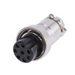 Разъем MIC16  8P гнездо металл кабель