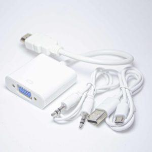 Конвертер HDMI на VGA+3.5mm Audio