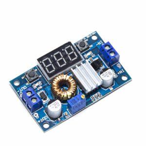 Плата пониж. модуль 4-35V 1,25-32V 5A XL4015E1 с радиат. и индик.